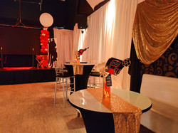 themed decoration for birthday in party hall