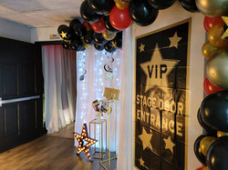 VIP stage in party venue