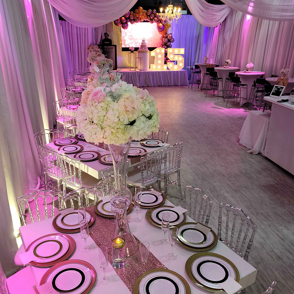 ideas for themed decorations a banquet hall