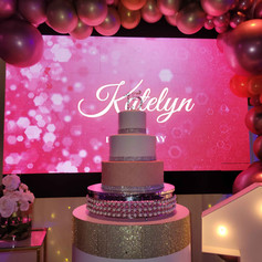 3 tier cake for 15th birthday in miami