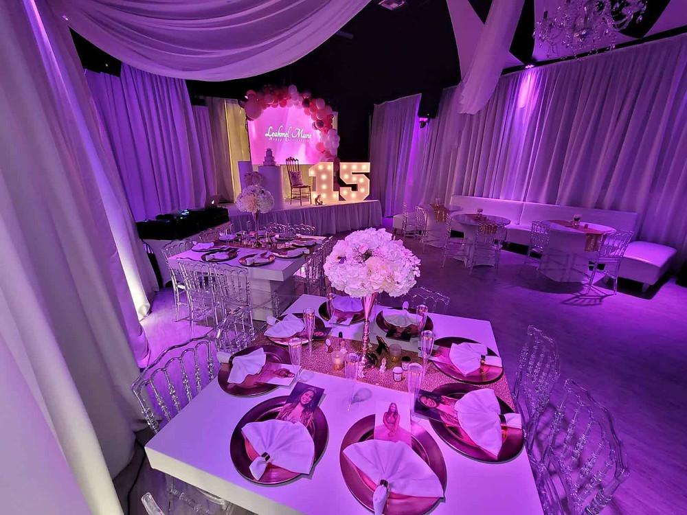 Banquet hall in miami for quinceañera party