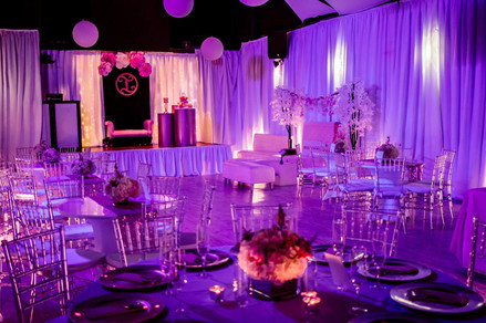 purple banquet hall in Kendall