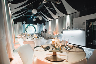 White decorated Banquet hall in Miami