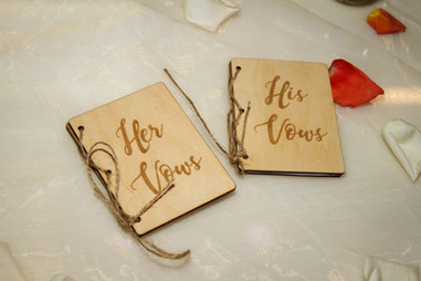 Books with wedding vows