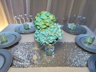 centerpiece with flowers for baby shower