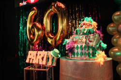 60th themed party at event hall in miami
