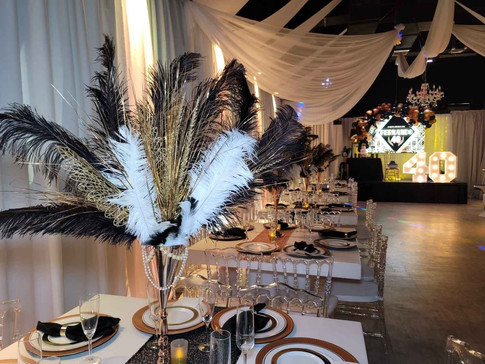 gatsby themed 40th birthday in party venue