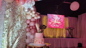 led screen for party in event venue in miami