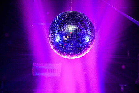 disco ball at teen party in event venue
