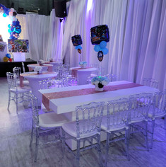 tables decorated for kids party in miami