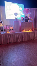 banquet hall in miami for baby shower pink