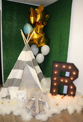Baby shower theme decorated event venue in miami