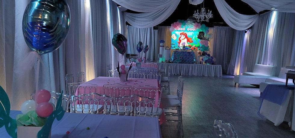 Ariel themed party venue in miami