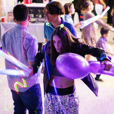 girl dancing at her 15th birthday party