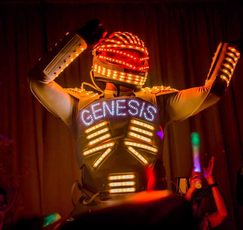 Light suit in a themed party in Kendall Miami