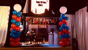 cowboy theme party at event venue in miami