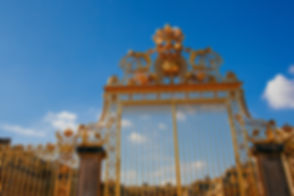Versailles chateau. France. View of gold