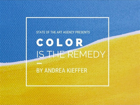 "ARTWEEK PRESENTS ""COLOR is the remedy"" by Andrea Kieffer 