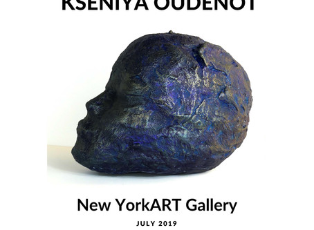Kseniya oudenot at new york art gallery