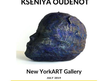 Kseniya oudenot at new york art gallery