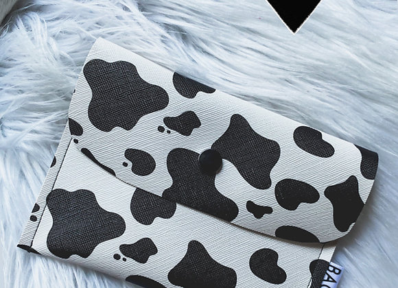 Cow Print Pouch ( Faux Leather )