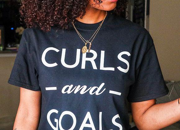 Curls and Goals T-shirt