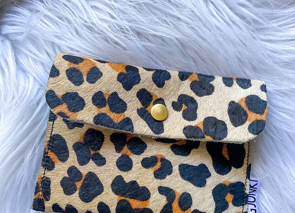 Leather Leopard Pouch