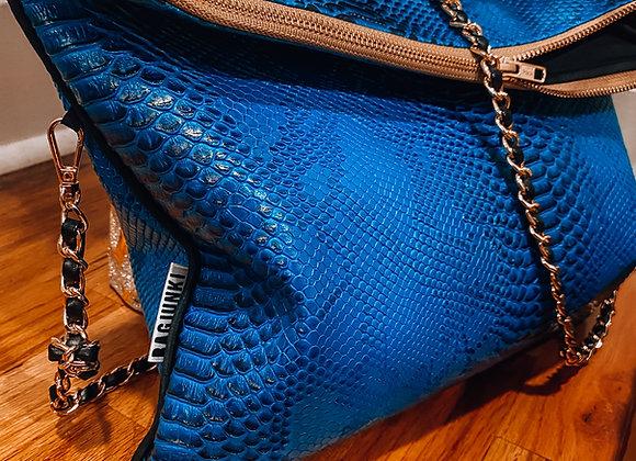 Electric Blue Snakeskin