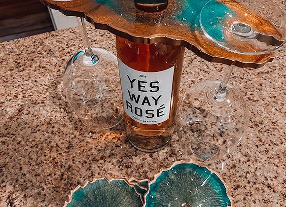 Aqua Resin Wine Caddy
