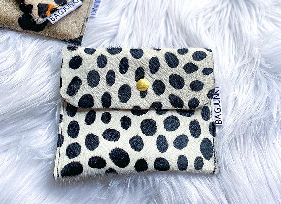 White Cheetah Leather pouch