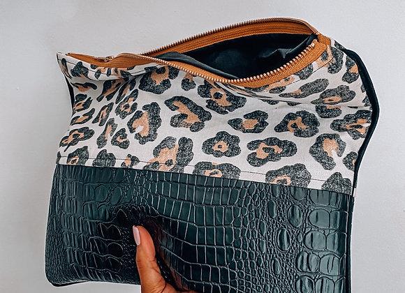 Leopard Gator Remix Clutch