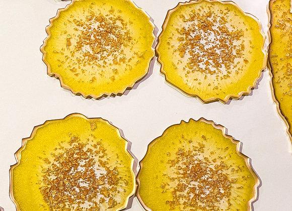 Lemon  Resin Coasters