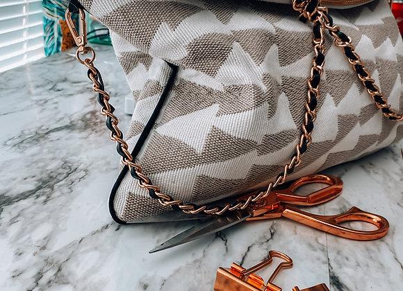 SandStone Tribal Triangles Clutch
