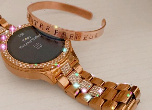Entrepreneur Hand-stamped Bracelet