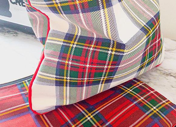 Plaid Tartan Fabric Clutch