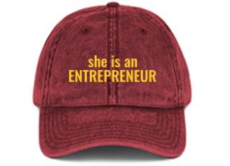 She is an Entrepreneur Hat
