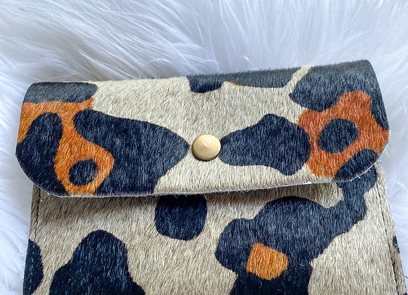 Leather Cheetah Pouch
