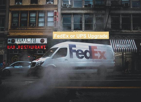 FEDEX or UPS Shipment