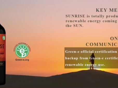 Viña Concha y Toro certifica su marca Sunrise con el nuevo estándar Green-e™ Energy en Chile.