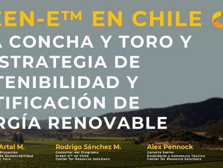 Webinar: Certificación de Energía Renovable en Chile- Viña Concha y Toro y Green-e™