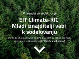 EIT Climate KIC program Mladi iznajditelji - Young Innovators vabi k sodelovanju