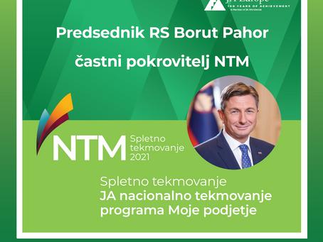Predsednik Republike Slovenije Borut Pahor je častni pokrovitelj JA nacionalnega tekmovanja 2021