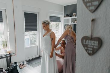 Getting Ready Hochzeit