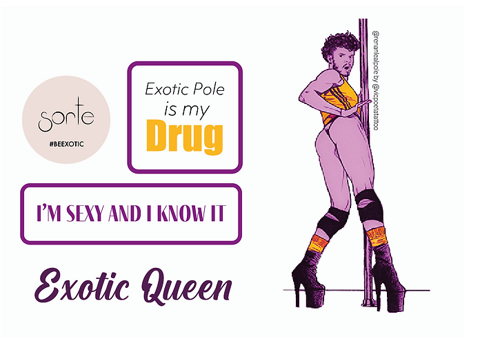 """Stickers """"EXOTIC QUEEN"""""""