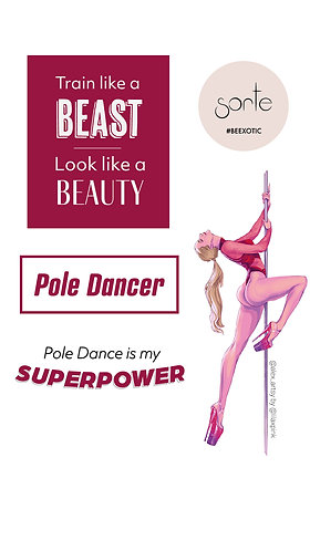"""Stickers """"POLE DANCE IS MY SUPERPOWER"""""""