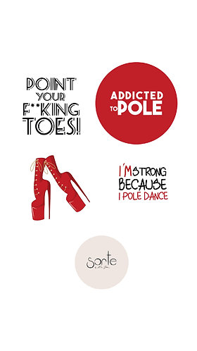 """Stickers """"ADDICTED TO POLE"""""""