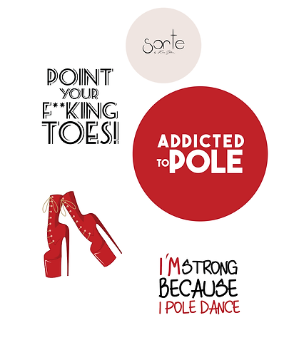 "Stickers ""ADDICTED TO POLE"""
