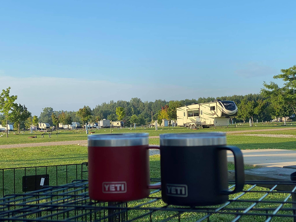 Camping during COVID means quiet campgrounds during the week, perfect for working and traveling. Photo credit: Elaine H.