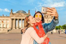 Two lesbians taking a selfie