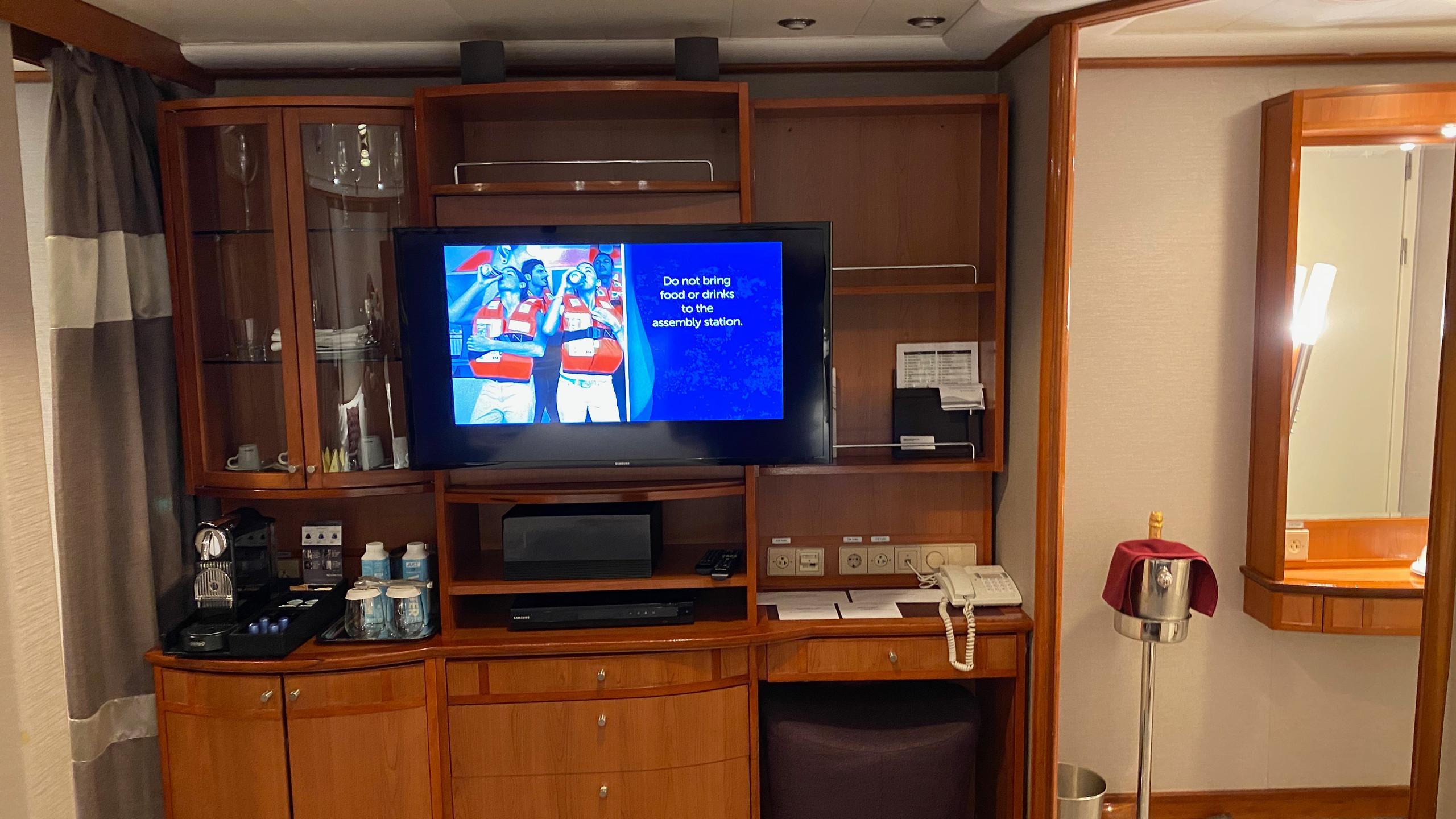 TV and Nespresso Machine